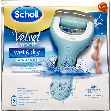 Image of   Scholl Velvet Smooth Wet & Dry Elektrisk Fodfil 1 stk