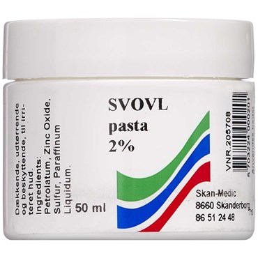 Image of   Svovl pasta 2 % S.A. 50 ml