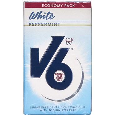 V6 Økonomipakke White Pebbermint tyggegummi 50 castk thumbnail