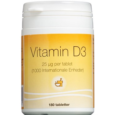 Image of   Vitamin D3 Tabletter - 25 mikg 180 stk