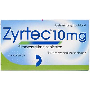 Zyrtec 14 stk Filmovertrukne tabletter thumbnail